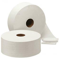 Toiletpapier Jumbo, maxi cellulose, 2 laags, 6 x 380 meter in folie