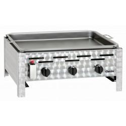 Bartscher Combi-tafelbraadgrill, gas, 3-pits