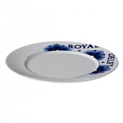 Royal Delft bord met rand 22 cm (6 stuks)