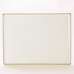 Rechthoekig bord Oatmeal 35 x 26 cm (6 stuks)
