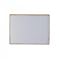 Rechthoekig bord Stone 35 x 26 cm (6 stuks)