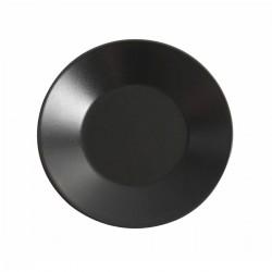 Aardewerk bord rond mat zwart 21 cm (12 stuks)