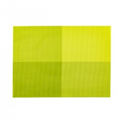 Placemat rechthoekig Groen 45 x 33 cm (24 stuks)