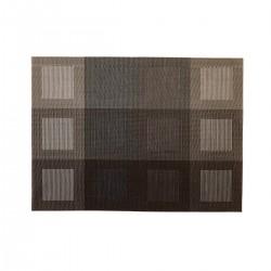 Placemat rechthoekig Zilver/Bruin 45 x 33 cm (24 stuks)