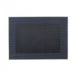 Placemat rechthoekig donkerblauw 45 x 33 cm (24 stuks)