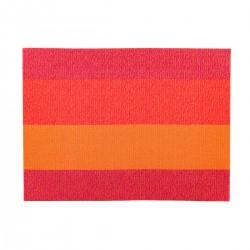 Placemat rechthoekig Oranje/Rood/Roze 45 x 33 cm (24 stuks)