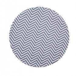 Placemat rond Wit/Blauw 38 cm (24 stuks)