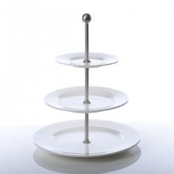 Etagère 3 borden met rand 28 / 21,5 / 16,5 cm (1 stuks)