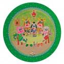 Kinderbord met rand 'friethuis' groen 26,7 cm (6 stuks)
