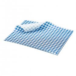 Vetvrij papier blauw geblokt 25 x 20 cm 1000st (1 stuks)