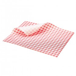 Vetvrij papier rood geblokt 25 x 20 cm 1000st (1 stuks)