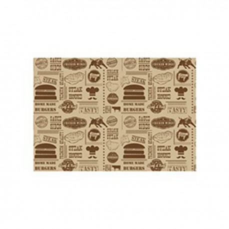 Vetvrij papier 'Steak House Design' 35x25cm 1000st (1 stuks)