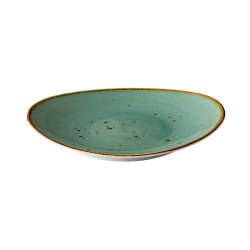 Ovaal bord reactive blue 30 x 25,5 cm (3 stuks)