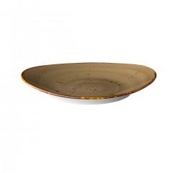 Ovaal bord reactive sand 17,1 x 14,8 cm (6 stuks)
