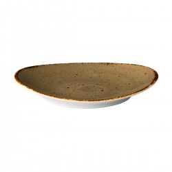 Ovaal bord reactive sand 30 x 25,5 cm (3 stuks)