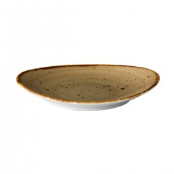 Ovaal bord reactive sand 21,5 x 19 cm (6 stuks)