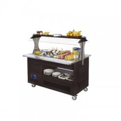 Buffet - Salad bar, gekoeld, 4x GN 1/1-150 (Wengé hout)