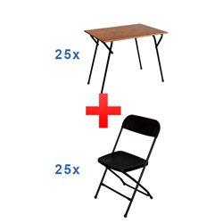 Combi deal A: 25 stoelen + 25 tafels
