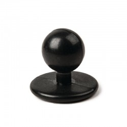 Whites bolknopen zwart