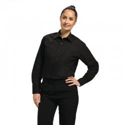 Uniform Works unisex overhemd lange mouw zwart L