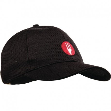 Chef Works Cool Vent baseball cap zwart