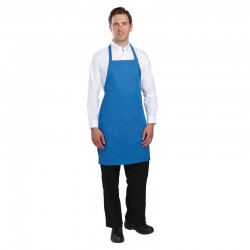 Chef Works halterschort blauw