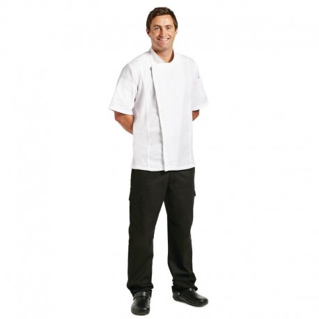 Chef Works Springfield unisex koksbuis met rits wit S