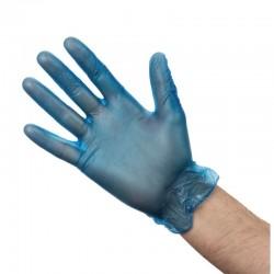 Vogue vinyl handschoenen blauw gepoederd XL