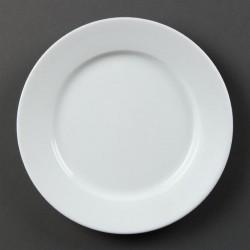 Olympia Whiteware borden met brede rand 20,2cm
