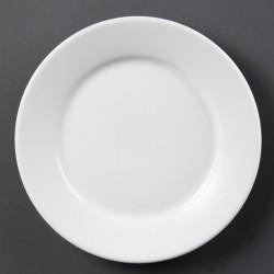 Olympia Whiteware borden met brede rand 23cm