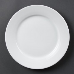 Olympia Whiteware borden met brede rand 25cm