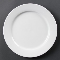 Olympia Whiteware borden met brede rand 28cm