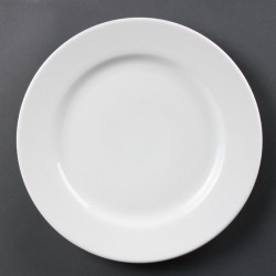 Olympia Whiteware borden met brede rand 31cm