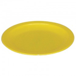 Kristallon bord 23cm geel