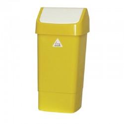 SYR afvalbak met schommeldeksel geel
