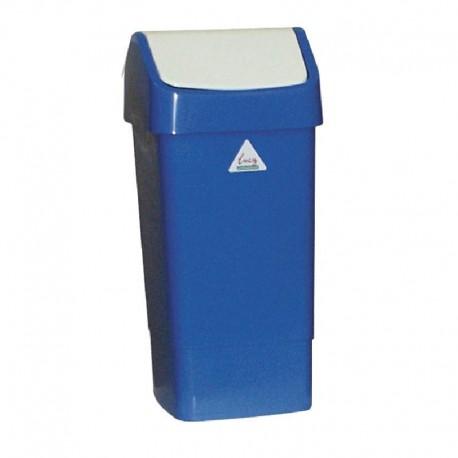 SYR afvalbak met schommeldeksel blauw