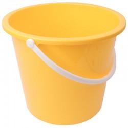 Jantex kunststof emmer 10ltr geel