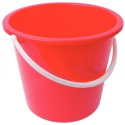 Jantex kunststof emmer 10ltr rood