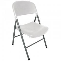 Bolero opklapbare stoelen wit (2 stuks)