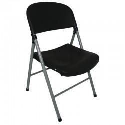 Bolero opklapbare stoelen zwart (2 stuks)