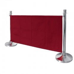 Bolero canvas afzetdoek rood