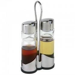 Tafelset olie- en azijnset met houder