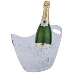 Acryl champagne bowl klein transparant