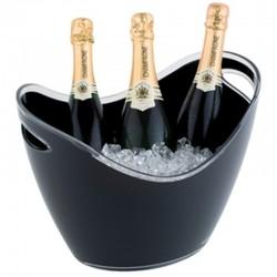 Acryl champagne bowl groot zwart