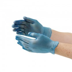 Vogue vinyl handschoenen blauw poedervrij L