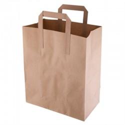 Bruine papieren draagzak recyclebaar middelgroot