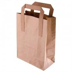 Bruine papieren draagzak recyclebaar groot