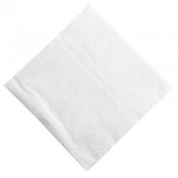 Papieren cocktailservetten wit 25cm