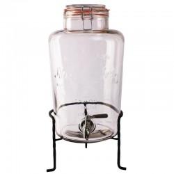 Olympia glazen retro waterdispenser met standaard 8,5L