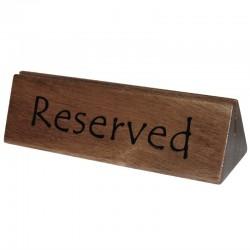 Olympia acaciahouten reserveerbordje en menuhouder